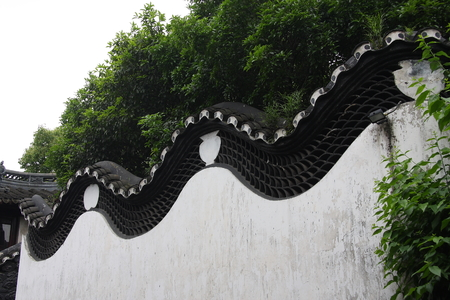 believers: shaped wall at Shanghai Temple. Stock Photo