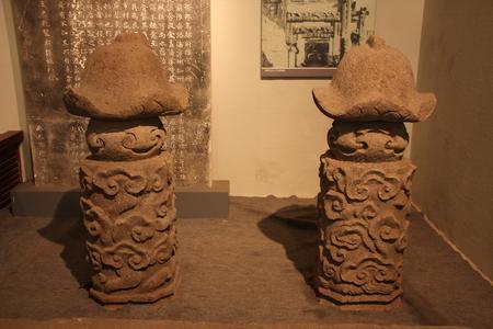relics: Top Wang lotus column (Yuan), now at the relics of St. Paul, Huzhou, Zhejiang Museum. Editorial