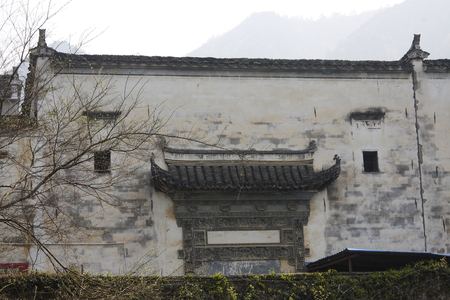 inkstone: Village Xiao Qi, ancient architecture village. pictures is building wall.