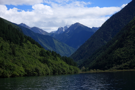 Jiuzhaigou natural and cultural landscape, Known as paradise on earth. photo