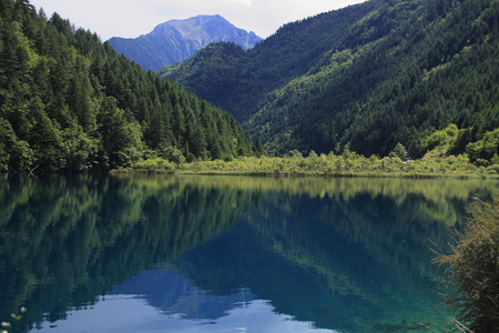Cangzhai Jiuzhaigou natural and cultural landscape,  Known as \paradise on earth.\ photo