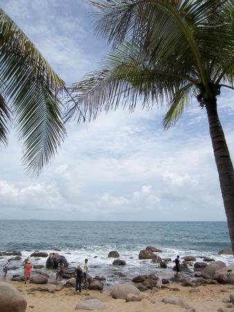 and sanya: Beach scenery at Sanya. Editorial
