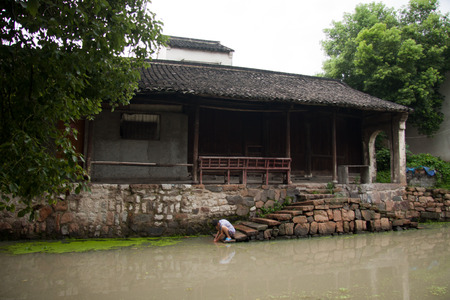 water town: Old building in Jiangnan water town