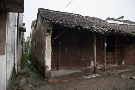 water town: Old buildings in Jiangnan water town Stock Photo