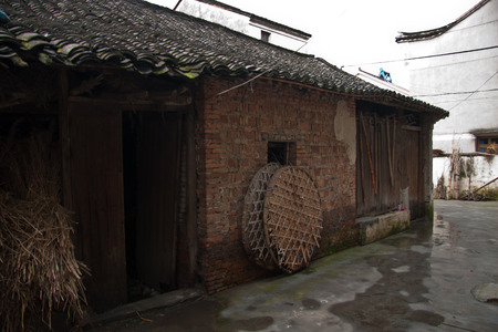residential market: Abandoned houses in village