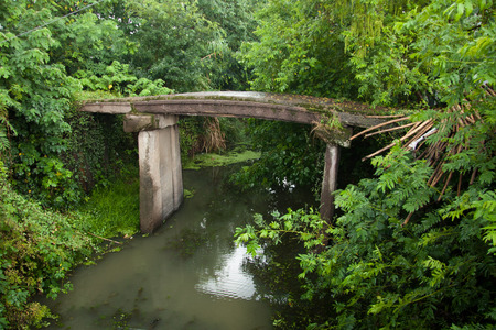 yangtze: Abandoned stone bridge at south of Yangtze River