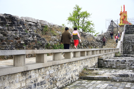 """rampart: East water off site, Confucius Temple Qinhuai Scenic Belt is """"ten Qinhuai"""", Ming Rampart View, Confucius Temple as landscape features, is China's famous open-5A class tourist attractions."""