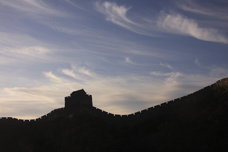 backlighting: Great wall view with backlighting Stock Photo