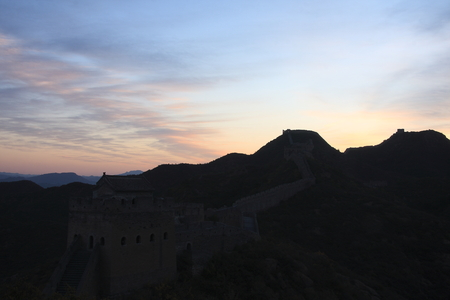 greatwall: Scenery view of greatwall with backlighting Stock Photo