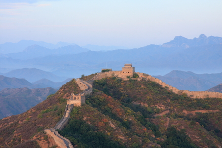 jinshanling: Jinshanling great wall located in luanping County, Chengde city, Hebei province Stock Photo