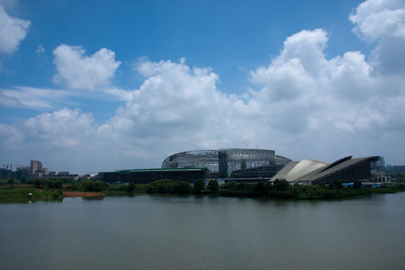 Huzhou in the construction of the Sports Center Reklamní fotografie