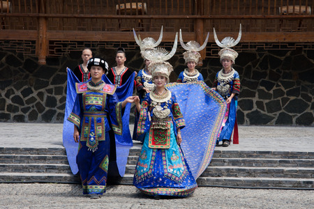 miao: Guizhou Miao ethnic traditional costumes