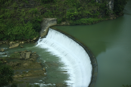 shu: View of Huang Guo Shu waterfall