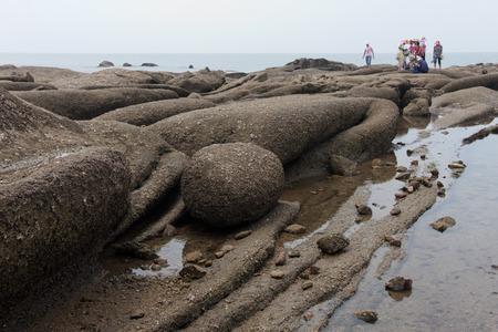 scenic spots: scenic spots of the golden sand beach Stock Photo