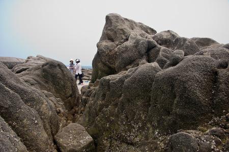 scenic spots: scenic spots of golden sand beach Stock Photo