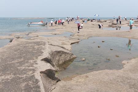 scenic spots: scenic spots of the golden sand beach Editorial