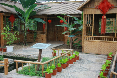 increase fruit: View of a farm house