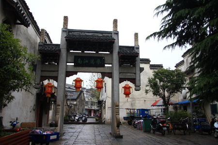 folk customs: Gaochun old street was built in the Song dynasty,  the shop with clear Anhui characterized architecture.