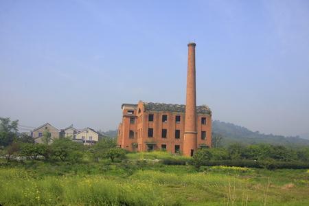 factory: Abandoned brick factory Stock Photo