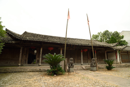 lineage: Lotus village is located in the rock town, Yongjia County, Zhejiang Province, village clan culture moving charm of architectural arts. Figure for the lineage.