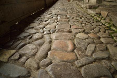 walkway: pebbles road