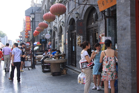traditional goods: Qianmen Street, Beijings traditional commercial Street, engaged in all kinds of North-South goods miscellaneous.