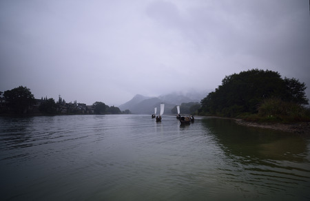 guyan: Lishui oujiang river scenery