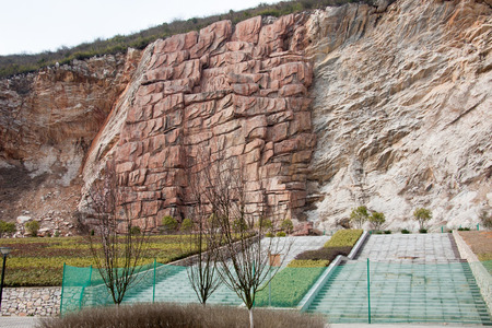 popular science: Golden Spike ancient world heritage sites located in the Changxing Huai Hom remains of Castle Peak foothills. Editorial