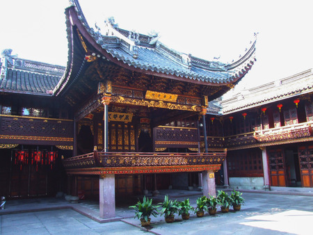 Tianyi Pavilion of Ningbo ancient stage Editorial