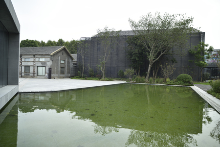 the exhibition hall: Wuzhen contemporary international art exhibition hall