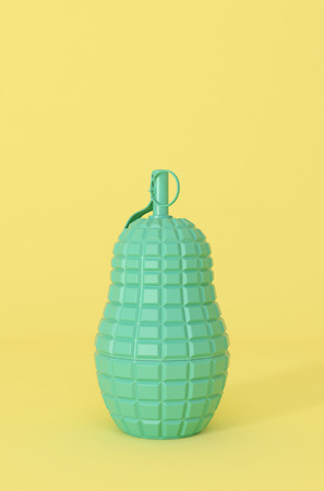 3d doll: 3d render of a colorful matryoshka nesting grenade looking doll