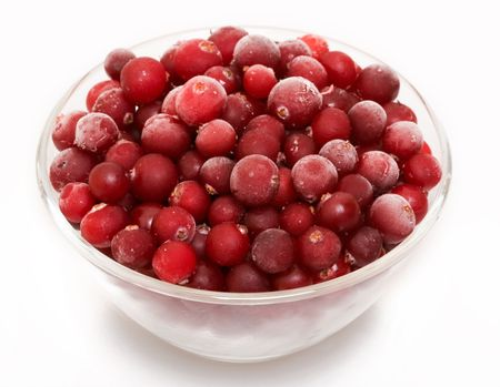 Cranberry in glass bowl