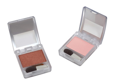 Two eye shadows sets isolated on the white background