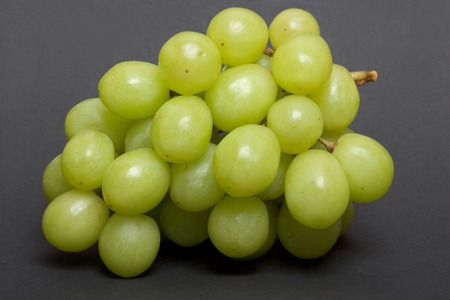 Bunch of green grapes close up Stock Photo