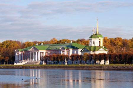 kuskovo: Palace at museum-estate Kuskovo, monument of the 18th century. Moscow, Russia.