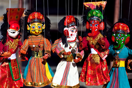 puppet show: Famous Nepalese puppet show in Kathmandu, Nepal