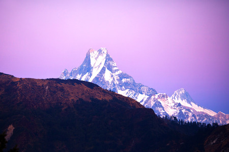 Machapuchare Mount - view from Poon Hill, Nepal