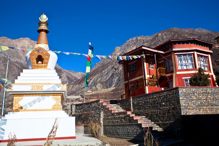 gompa: Buddhist gompa and monastery in Muktinath, Annapurna conservation area, Nepal