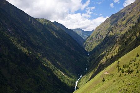 gad: Mountain landscape and Suli Gad river in Dolpo, Nepal.