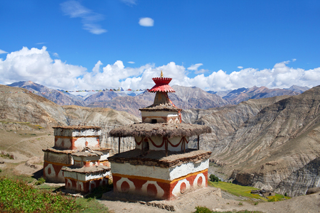 culturally: Ancient Bon stupa in Saldang village, Nepal. Saldang lies in Nankhang Valley, the most populous of the sparsely populated valleys making up the culturally Tibetan region of Dolpo.