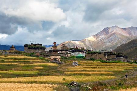 Dho Tarap Village in Dolpo region, Nepal