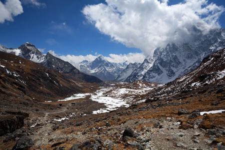 icefall: Cho La Pass in Sagarmatha National Park, Nepal Stock Photo