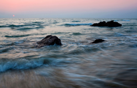 tranquilly: Ocean landscape in Kerala, South India