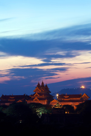 artefacts: Bagan Archaeological Museum view at twilight in Bagan, Myanmar. The museum had collected sufficient amount of ancient artefacts from and near Bagan