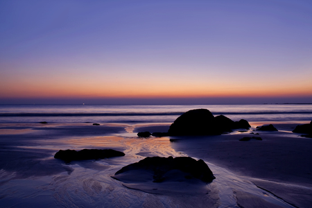 tranquilly: Tropical Ocean landscape at sunset