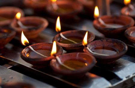 divali: Candles at Shwedagon Pagoda in Yangon, Myanmar