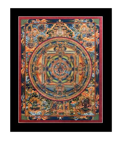 KATHMANDU, NEPAL - AUGUST 29, 2010: Antique Tibetan Thangka