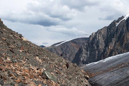aktru: Aktru Glacier in Altay Mountains, Russia