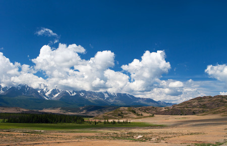 russia steppe: Altay mountains and Kuray steppe, Russia