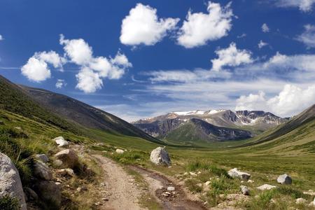 aktru: Road to Ukok Plateau in Altay Mountains, Russia